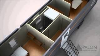 OPALON prefabrik konteyner rig drilling treyler TRON - Animasyon