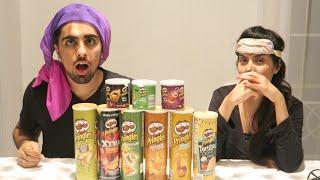 The Pringles Challenge ! Extreme Potato Chip Tasting Contest !