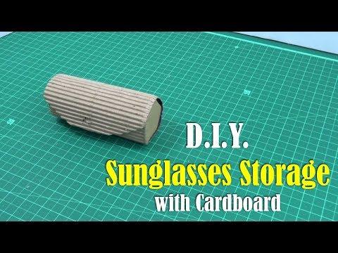 DIY: Sunglasses Storage with Cardboard