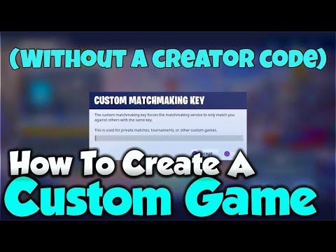 How To Create A Custom Game In Fortnite WITHOUT A Support A Creator Code! (2020) +Giveaway