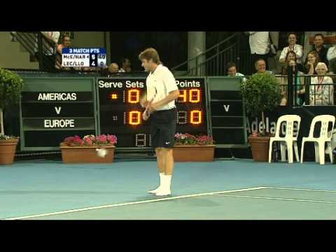 McEnroe strips on court in Adelaide WTC 2011