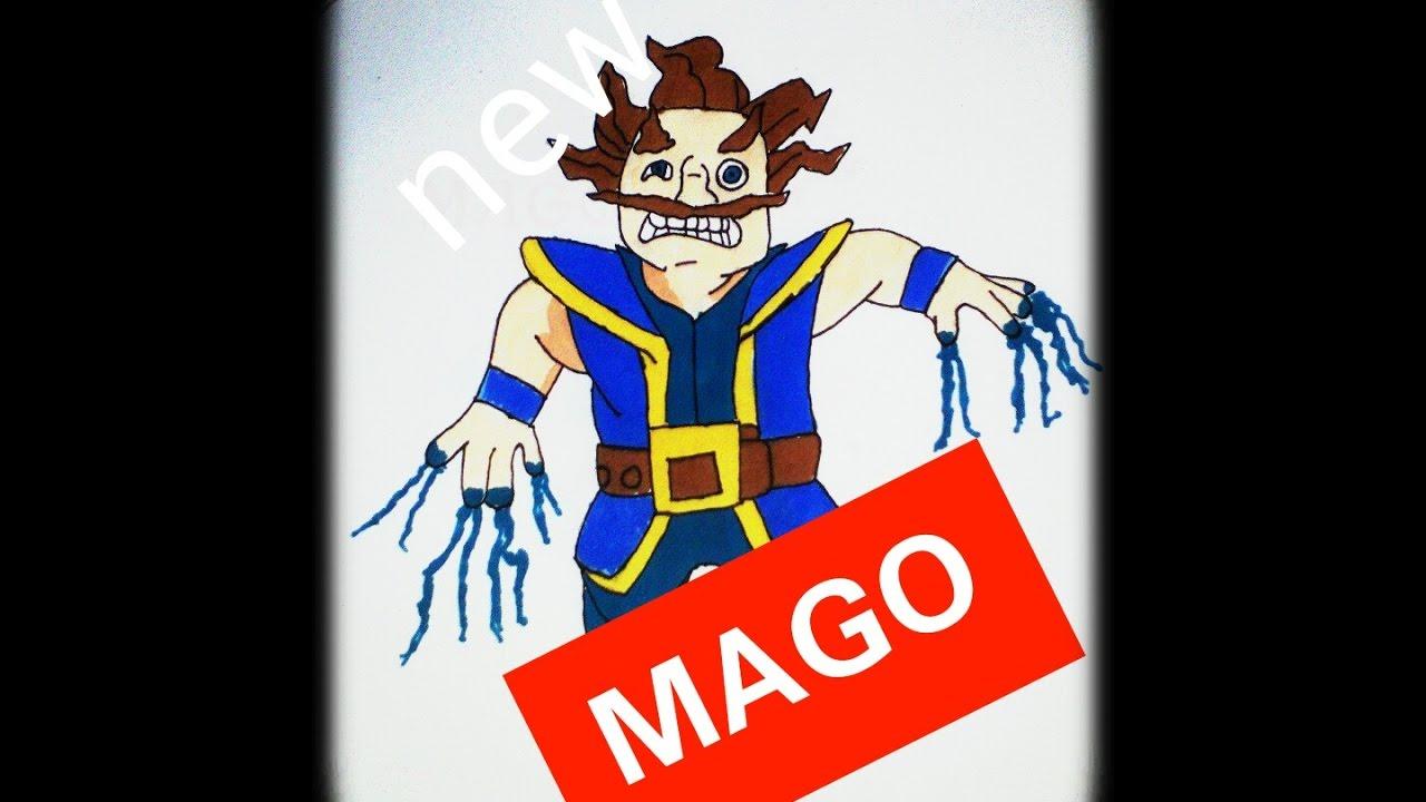 Dibujando MAGO ELÉCTRICO Clash Royale ( Nueva Sección Del