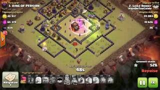 Th10 vs Th10. 3 star strategy. QW and Bowlers. Clash of clans clanwar.