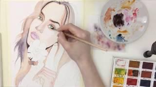 Как нарисовать портрет акварелью?