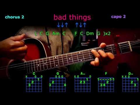 bad things machine gun kelly guitar chords