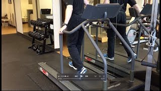 Knee Rehab Exercise on Treadmill to Help Straighten (extend knee)