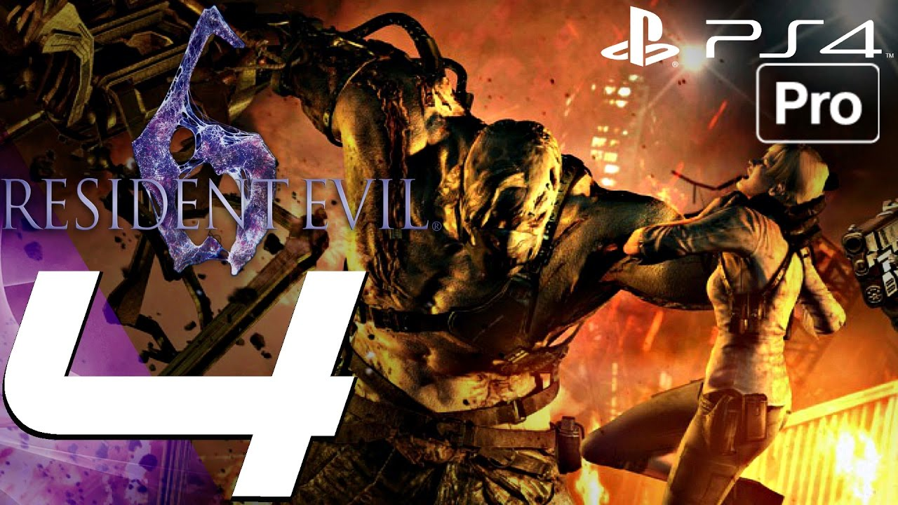 Resident Evil 6 Ps4 Gameplay Walkthrough Part 4 Ustanak Boss