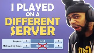 So I played on a different server...  (Fortnite Battle Royale)