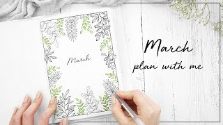 PLAN WITH ME   March 2018 Bullet Journal   w/ ChristineMyLinh, JennyJournals & NicolesJournal