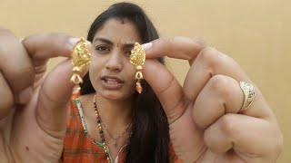 My Gold Earrings Collection with Grams in Telugu | Traditional Earrings for Women