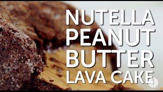Nutella Peanut Butter Lava Cake