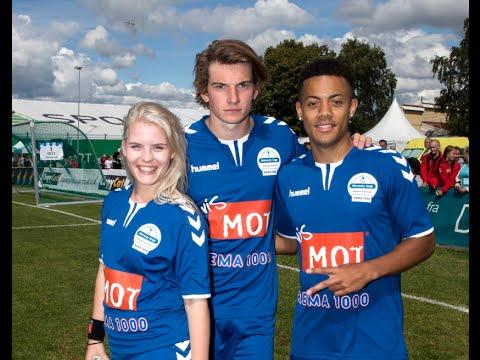 SKAM-William og SKAM-Vilde - Ulrikke Falch og Thomas Hayes - på Norway Cup