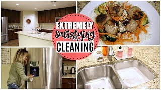 AFTER DARK COOK & CLEAN WITH ME 2018 | EXTREMELY SATISFYING CLEANING