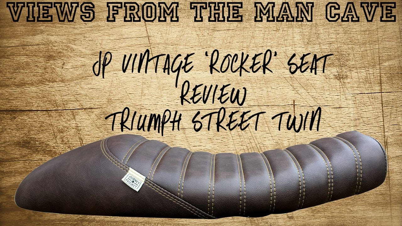 Man Cave Review : Jp vintage seat review triumph street twin youtube