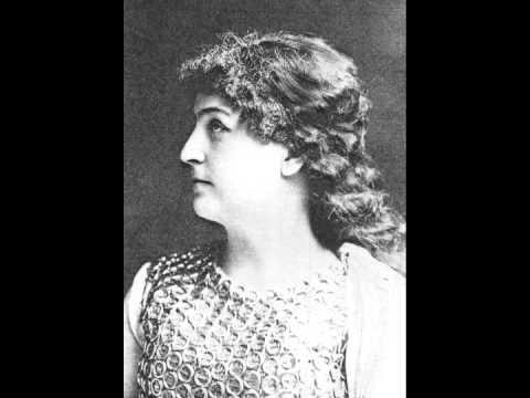 German Soprano Lilli Lehmann  ~ Long, Long Ago  (1906)