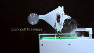 SensaBubble: A Chrono-Sensory Mid-Air Display of Sight and Smell
