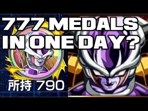 GRIND 777 MEDALS IN ONE DAY? LR Frieza Legendary Campaign Dragon Ball Z Dokkan Battle