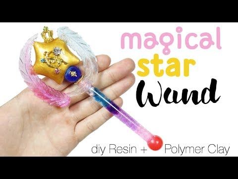How to DIY Lifesize Magical Star Wand Resin/Polymer Clay Tutorial