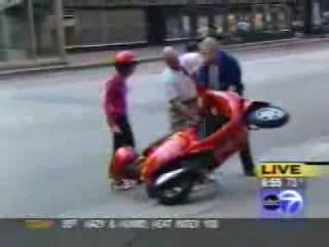 Hot-Ride.com Vespa Motor Scooter Crashed By Tracy Butler FUNNY