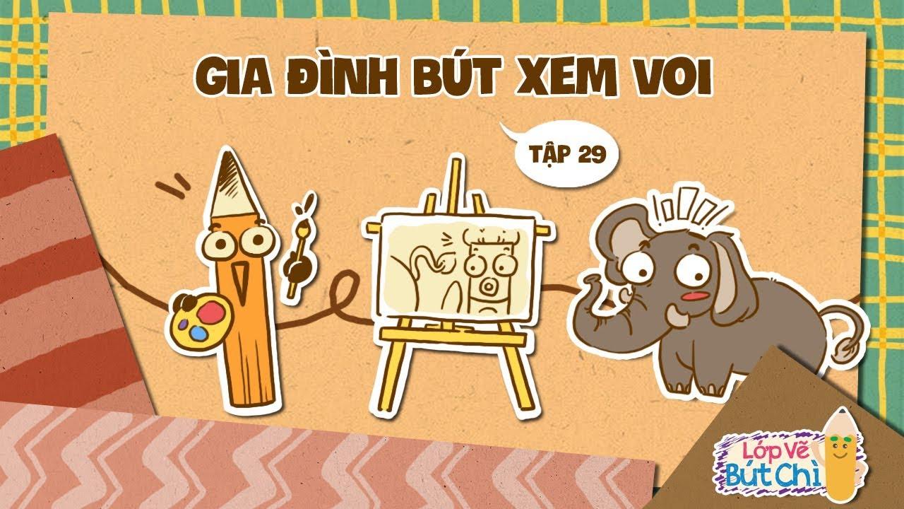 Vẽ Gia Đình Bút Xem Voi | Lớp Vẽ Bút Chì | Hi Pencil Studio
