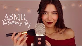 ASMR Let Me Make You Sleepy! Mic Brushing & Soft Singing (Valentine's day edition)