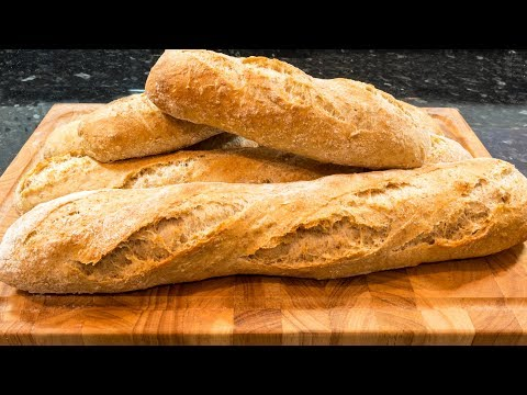 Wholemeal Baguettes made easy at home