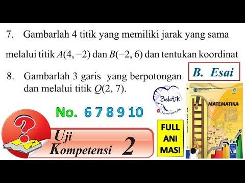 Uji Kompetensi 2 no 6 7 8 9 10 Essai Kelas 8 SMP/MTs ...