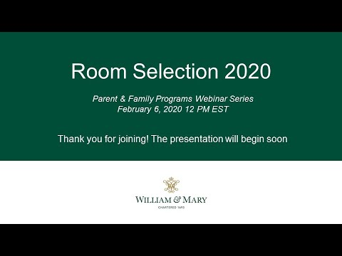 Room Selection 2020