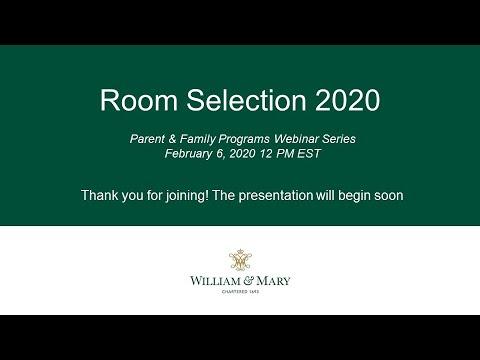 Room Selection 2020