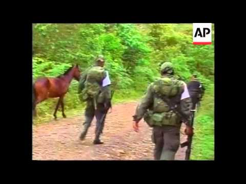 Colombian police in three-hour battle with 350 FARC fighters