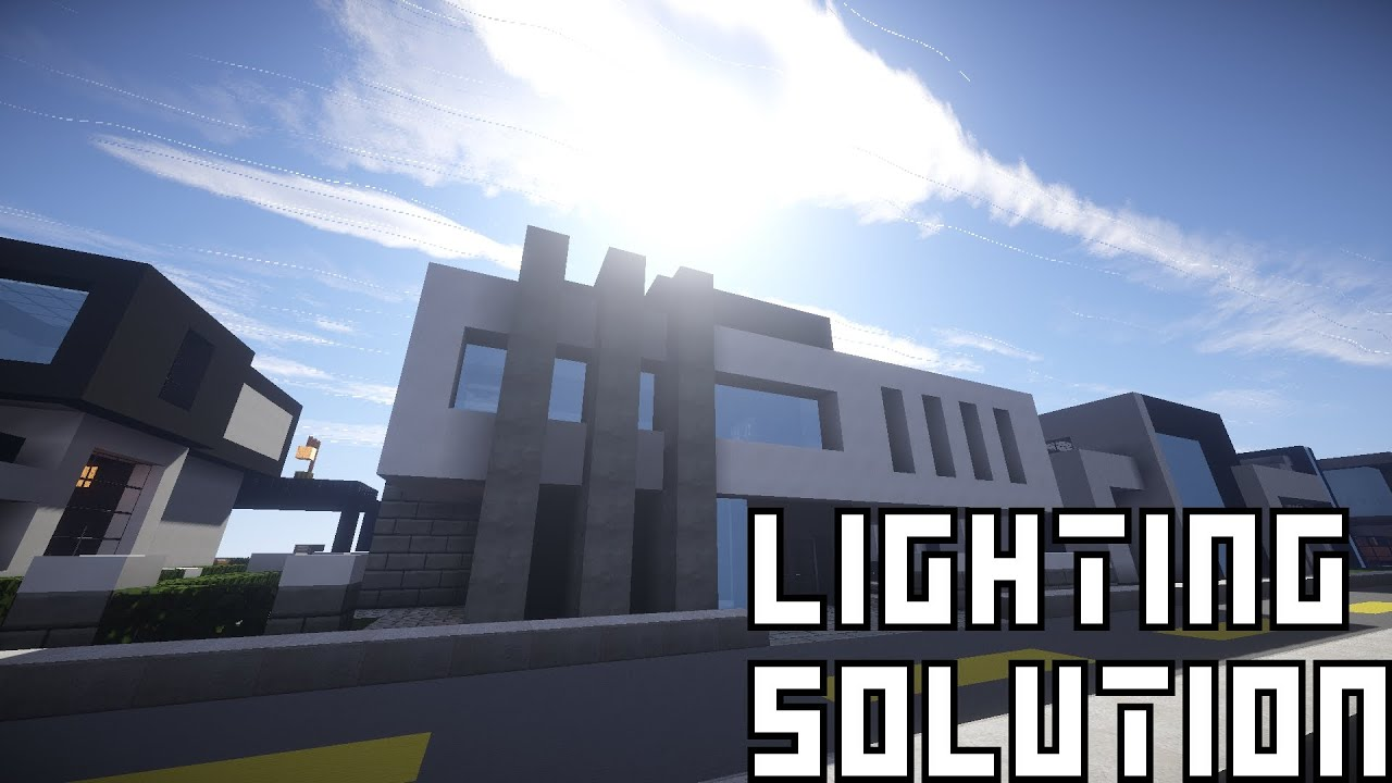 Superb 24x24 Modern House #3: Minecraft | Keralisu0027 24x24 Modern House | Lighting Solution! - YouTube