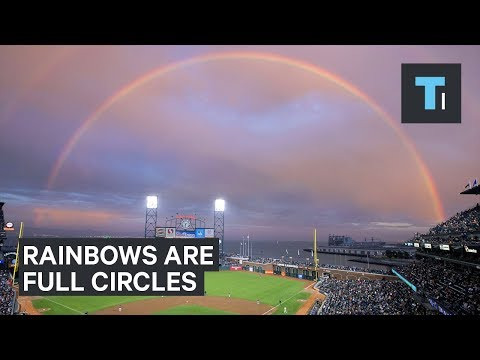 Rainbows aren't just arcs in the sky — they're actually full circles