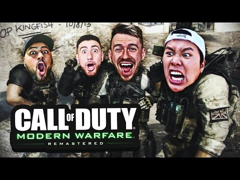 CALL OF DUTY REMASTERED FUNNY MOMENTS W/ TEAM ALBOE!! (SHIPMENT SNIPING #1)