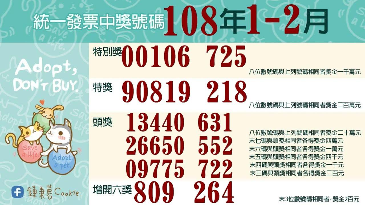 統一發票中獎號碼 : 對發票中獎發財! 109年1、2月期統一發票千萬獎號碼:12620024 | 臺灣好新聞 TaiwanHot.net ...