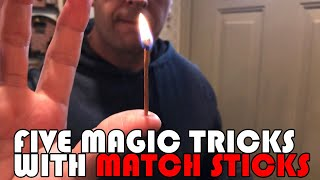 5 EASY Tricks with Match Sticks