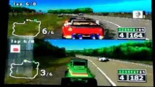 NASCAR RUMBLE 2 PLAYER MODE RACE #3