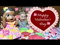 BABY ALIVE makes VALENTINES CARDS!..And Mails them! The Lilly and Mommy Show. The TOYTASTIC Sisters