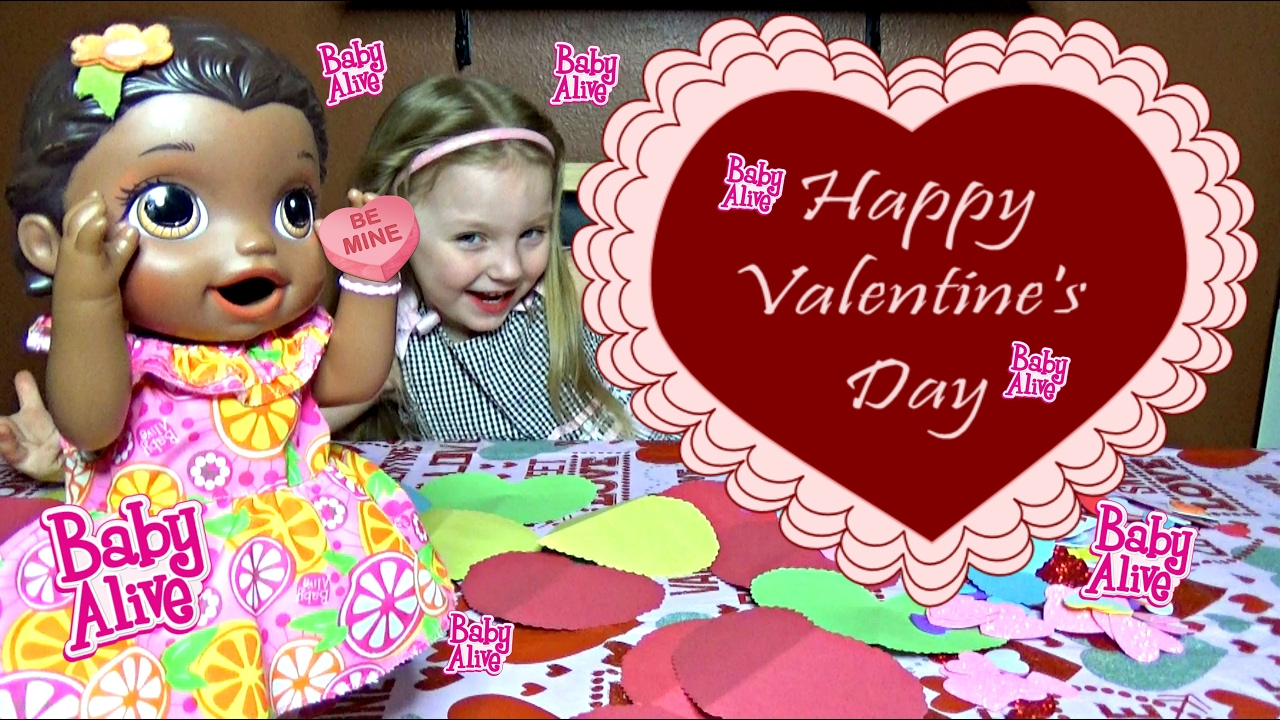 Baby Alive Makes Valentines Cards And Mails Them The