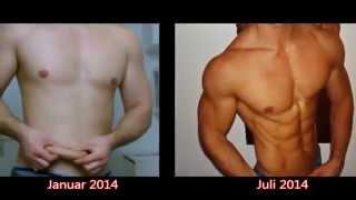 Трансформация за 6 месяцев. От жира к рельефу.