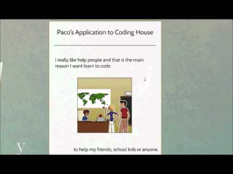 Paco's application to Coding House scholarship