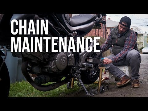 How To Clean, Adjust, And Lube Motorcycle Chain | Tom & Eric Try | Yamaha Tracer 900