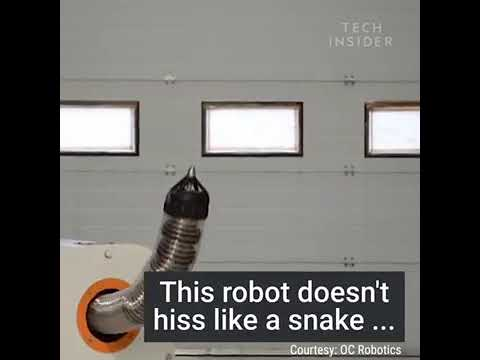 This Snake-Like Robot Is Used To Dismantle Nuclear Facilities