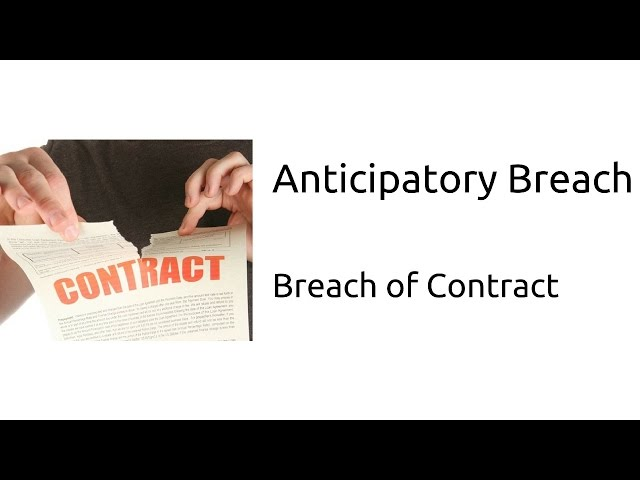 What is Anticipatory Breach   Breach of Contract   Indian Contract   CA CPT   CS & CMA Foundation