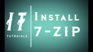 how to install 7zip on windows 10