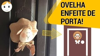 OVELHA/CARNEIRO ENFEITE DE PORTA PARA PÁSCOA