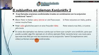Video El subjuntivo en aleman.El Konjunktiv 2 en aleman download MP3, 3GP, MP4, WEBM, AVI, FLV Juli 2018