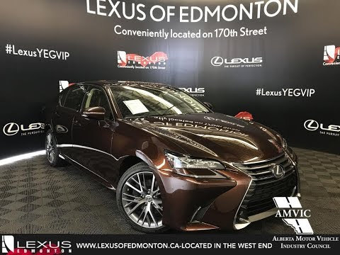 Brown 2018 Lexus GS 350 Executive Package Walkaround Review Downtown Edmonton Alberta