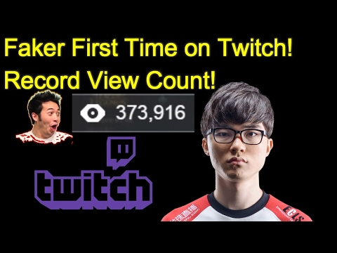 Faker - First Time On Twitch - View Count Record - Ryze/Katarina - League Of Legends #29