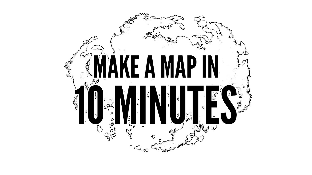 How To Easily Make A Map In 10 Minutes With Photoshop   YouTube
