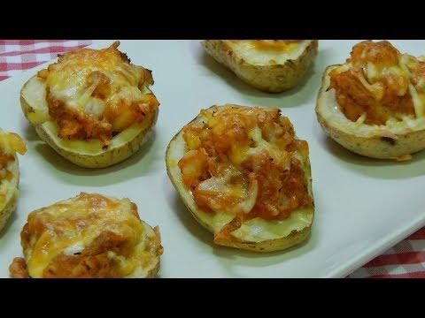 Receta fácil de patatas asadas rellenas de atún
